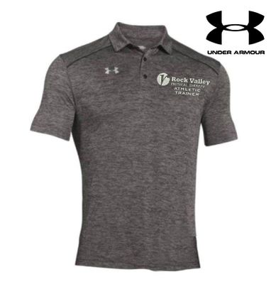 18. Rock Valley Athletic Trainer Under Armour Steel Tech Polo-Carbon Heather