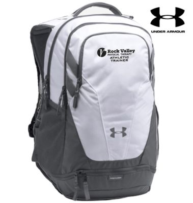 20. Rock Valley Athletic Trainer Under Armour Team Hustle 3.0 Backpack-White