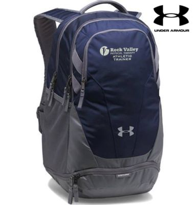21. Rock Valley Athletic Trainer Under Armour Team Hustle 3.0 Backpack-Navy
