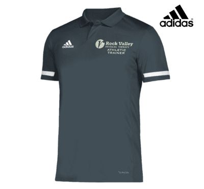 22. Rock Valley Athletic Trainer adidas Team 19 Polo-Grey/White