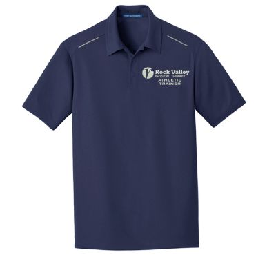 23. Rock Valley Athletic Trainer Pinpoint Mesh Polo-True Navy