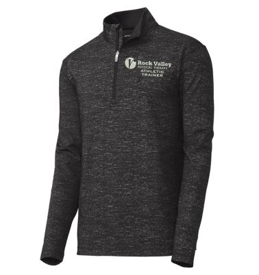 25. Rock Valley Athletic Trainer Sport-Wick Stretch Reflective Heather 1/2 Zip Pullover-Black