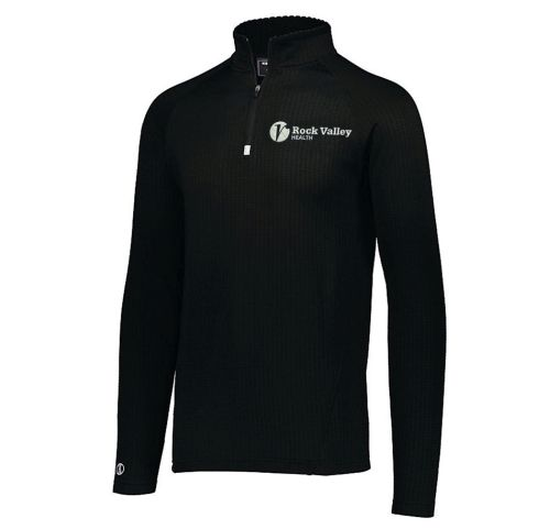 09. Rock Valley Health Holloway 3D Regulate Lightweight 1/4 Zip-Black