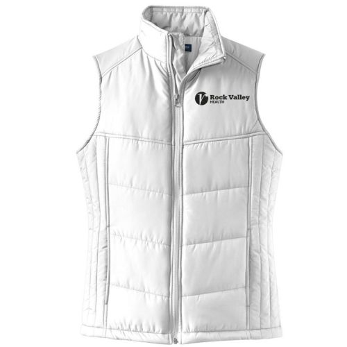 17. Rock Valley Health Ladies Puffy Vest-White