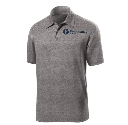 10. Rock Valley Health Heather Contender Performance Polo-Vintage Heather