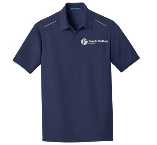 23. Rock Valley Health Pinpoint Mesh Polo-True Navy
