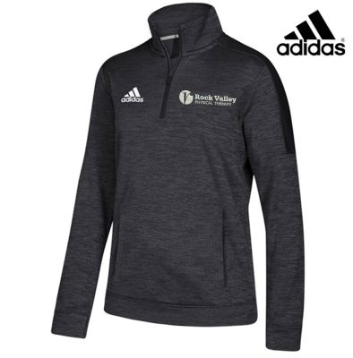 08. Rock Valley Physical Therapy Women's adidas Team Issue 1/4 Zip-Black