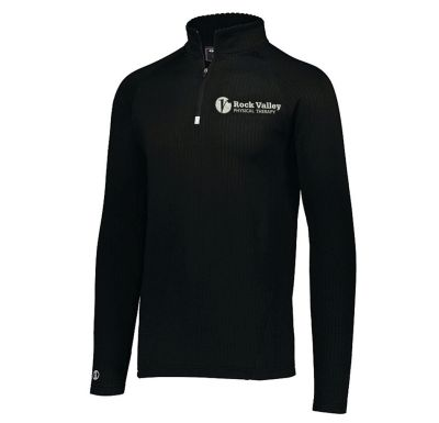 09. Rock Valley Physical Therapy Holloway 3D Regulate Lightweight 1/4 Zip-Black