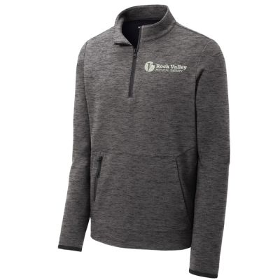 10. Rock Valley Physical Therapy Triumph 1/4 Zip Pullover-Dark Grey Heather