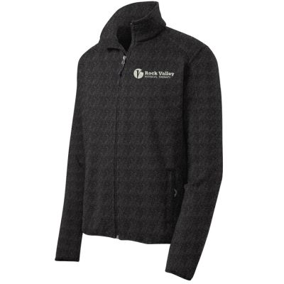 15. Rock Valley Physical Therapy Sweater Fleece Jacket-Black Heather