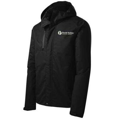 18. Rock Valley Physical Therapy Port Authority All-Conditions Jacket-Black