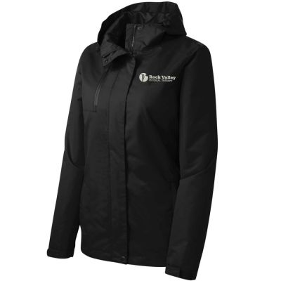 19. Rock Valley Physical Therapy Ladies Port Authority All-Conditions Jacket-Black