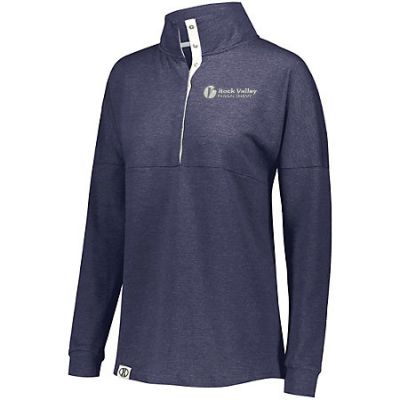 22. Rock Valley Physical Therapy Ladies Sophomore Pullover-Navy Heather