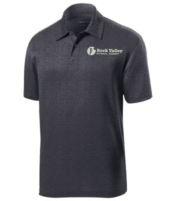 25. Rock Valley Physical Therapy Heather Contender Performance Polo-Graphite Heather