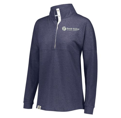 05. Rock Valley Physical Therapy Ladies Sophomore Pullover-Navy Heather