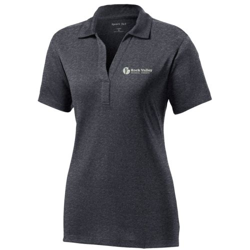 13. Rock Valley Physical Therapy Ladies Heather Contender Performance Polo-Graphite Heather