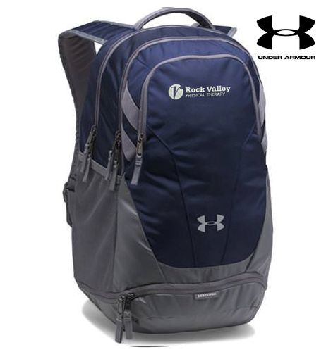 25. Rock Valley Physical Therapy Under Armour Team Hustle 3.0 Backpack-Navy
