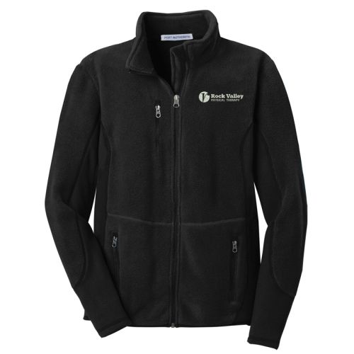 31. Rock Valley Physical Therapy R=Tek Pro Fleece Full Zip Jacket-Black