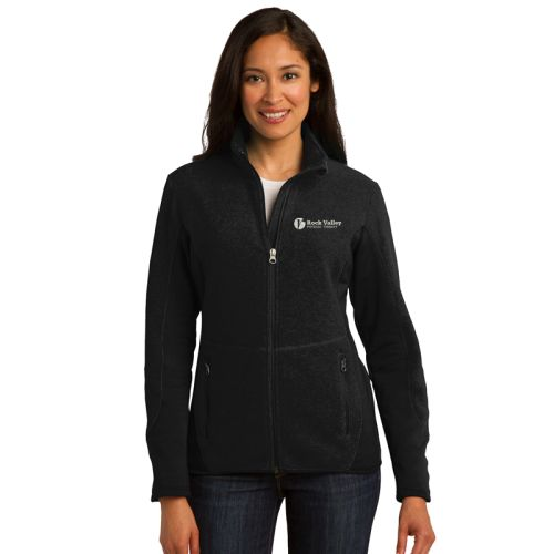 32. Rock Valley Physical Therapy Ladies R-Tek Pro Fleece Full-Zip Jacket-Black
