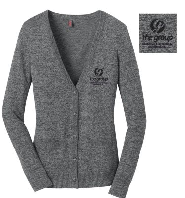 05. The Group Ladies Cardigan Sweater-Warm Grey