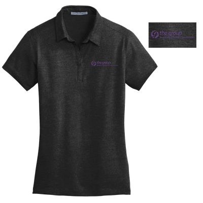 06. The Group Ladies Meridian Cotton Blend Polo-Black