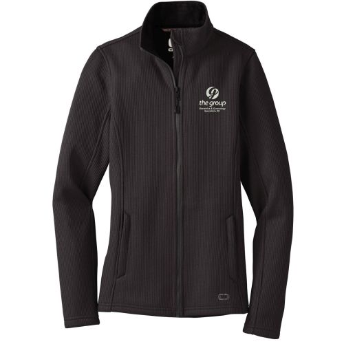 22. The Group OGIO Ladies Grit Fleece Jacket-Blacktop