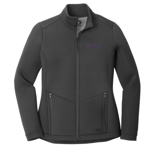 24. The Group OGIO Ladies Axis Bonded Jacket-Blacktop