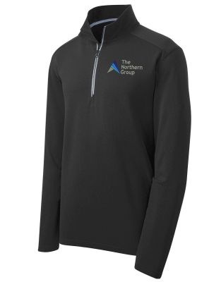 The Northern Group Sport Wick 1/4 Zip Pullover-Black