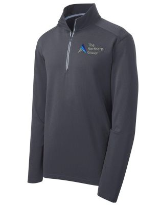The Northern Group Sport Wick 1/4 Zip Pullover-Iron Grey