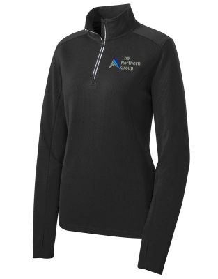 The Northern Group on Ladies Sport Wick 1/4 Zip Pullover-Black