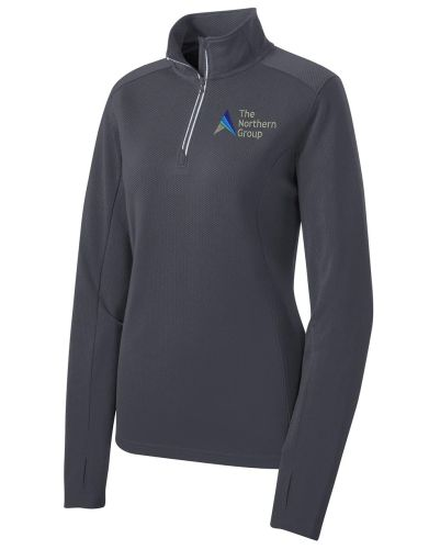 The Northern Group on Ladies Sport Wick 1/4 Zip Pullover-Iron Grey