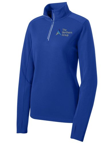 The Northern Group on Ladies Sport Wick 1/4 Zip Pullover-True Royal