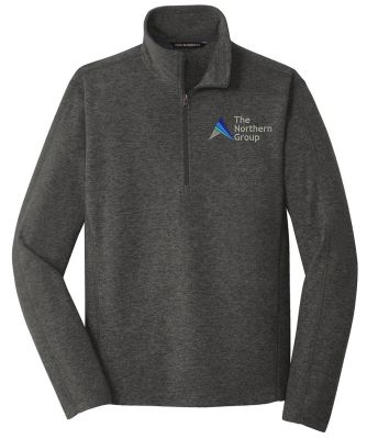 The Northern Group Microfleece 1/2 Zip Pullover-Black Charcoal