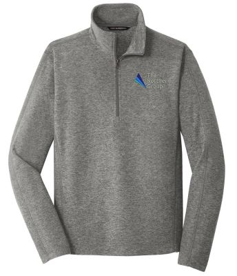 The Northern Group Microfleece 1/2 Zip Pullover-Pearl Grey