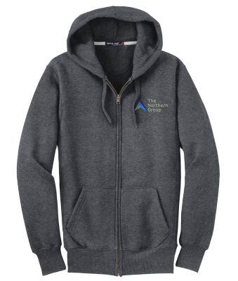 The Northern Group Super Heavyweight Full Zip Hooded Sweatshirt-Athletic Heather
