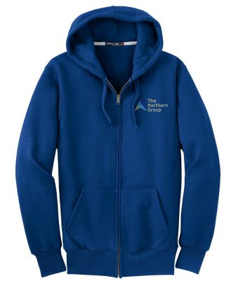 The Northern Group Super Heavyweight Full Zip Hooded Sweatshirt-Royal