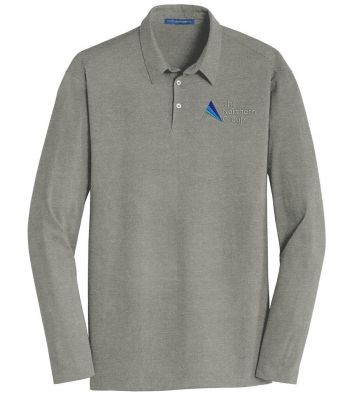 The Northern Group Long Sleeve Meridian Cotton Blend Polo-Grey