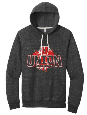 UHS Fall Fan Gear Jerzees Snow Heather French Terry Raglan Hoodie-Black