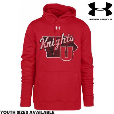 UHS Fall Fan Gear Under Armour Hustle Fleece Hoody-Red