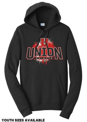 UHS Fall Fan Gear Rah Rah Unisex Fan Favorite Fleece Pullover Hooded Sweatshirt-Jet Black