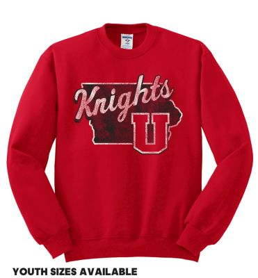 UHS Fall Fan Gear Jerzees Nublend Crewneck Sweatshirt-True Red