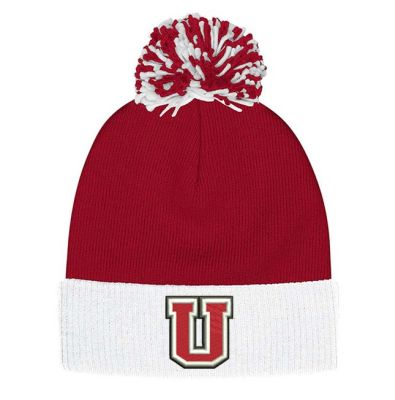 UHS Fall Fan Gear Adidas Cuffed Pom Beanie-Power Red