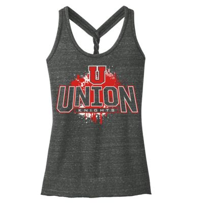 UHS Fall Fan Gear District Women's Cosmic Twist Back Tank-Black/Grey Cosmic
