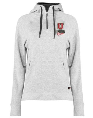 UHS Fall Fan Gear Badger Performance Fit-Flex Women's Hooded Zip-Oxford