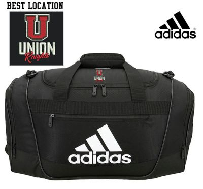 UHS Fall Fan Gear Adidas Defender III Duffel Bag (medium)-Black/Silver