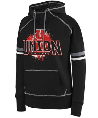 UHS Fall Fan Gear Augusta Ladies Spry Hoodie-Black/White/ Graphite
