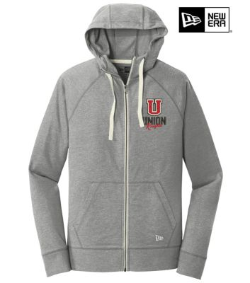 UHS Fall Fan Gear New Era Unisex Sueded Cotton Blend Full Zip Hoodie-Shadow Grey Heather