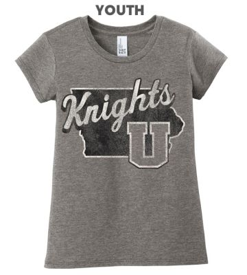 UHS Fall Fan Gear District Girls Very Important Tee-Grey Frost