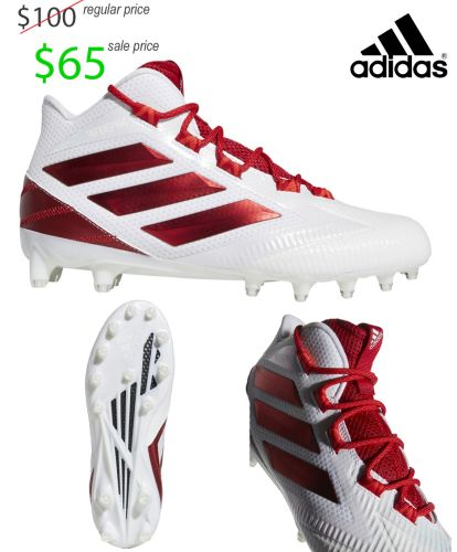 22. UNION Football Player Gear 2019 Adidas Freak Carbon MID-White/Red