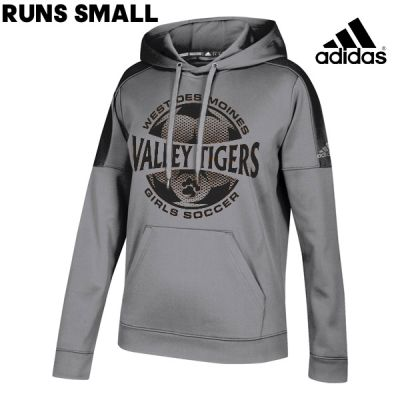 WDM Valley Girls Soccer Holiday Adidas Women's Team Issue Hood (runs small)-Grey